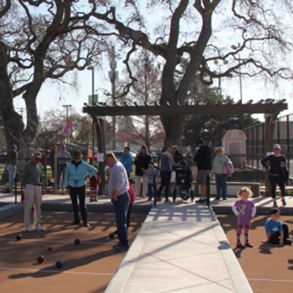 structural engineering for public park bocce court