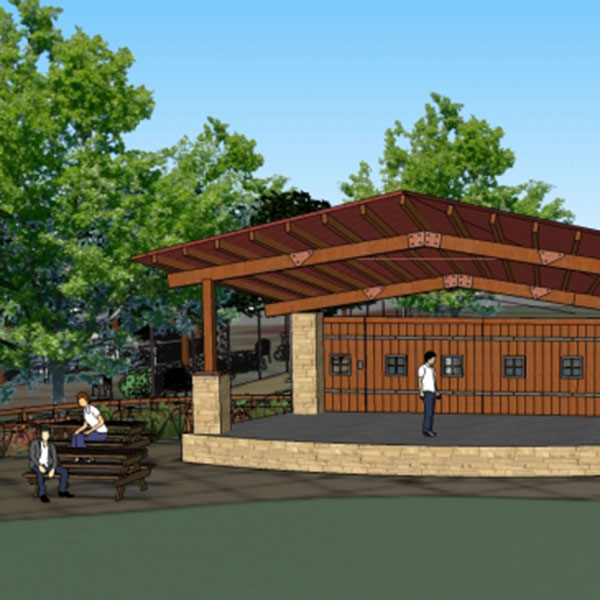 structural engineer rendering park stage