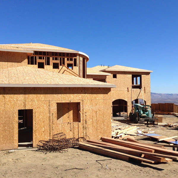 structural engineering custom home project under construction