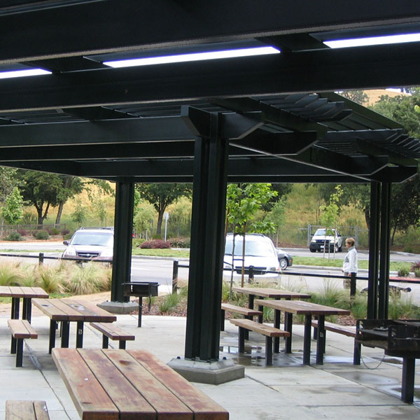 arbor covered picnic area