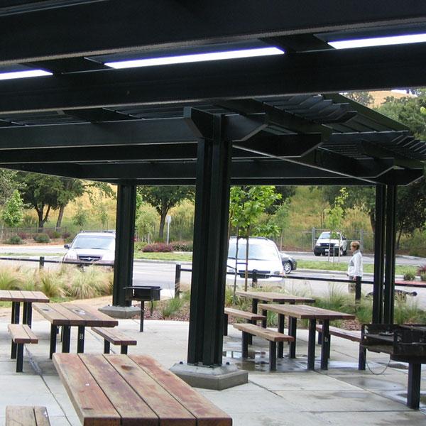 arbor covered picnic area