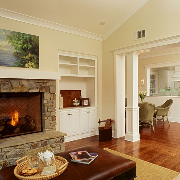 custom california living room fireplace