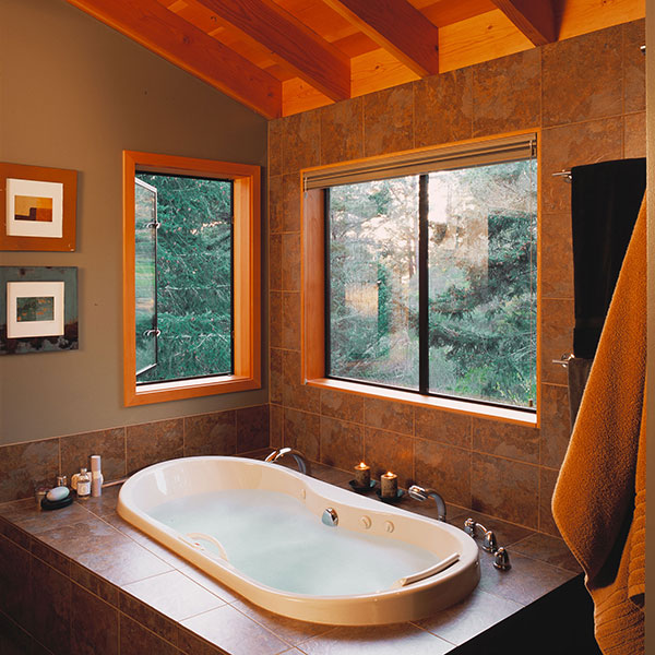 bathroom with forest view sea ranch